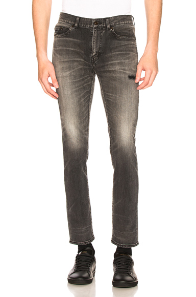 Saint Laurent Jeans in Black,Gray. - size 31 (also in 28,29,30,32,34,36)