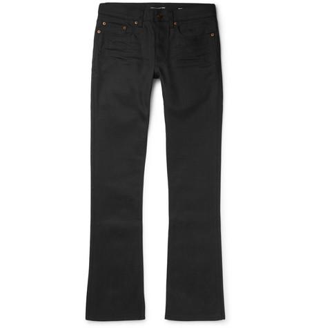 Saint Laurent - Slim-Fit Flared Stretch-Denim Jeans - Black