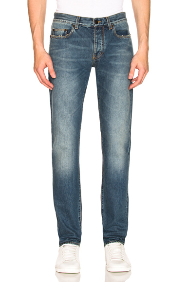 Saint Laurent Slim Fit Jean in Blue. - size 30 (also in 28,29,31,32,33,34,36)