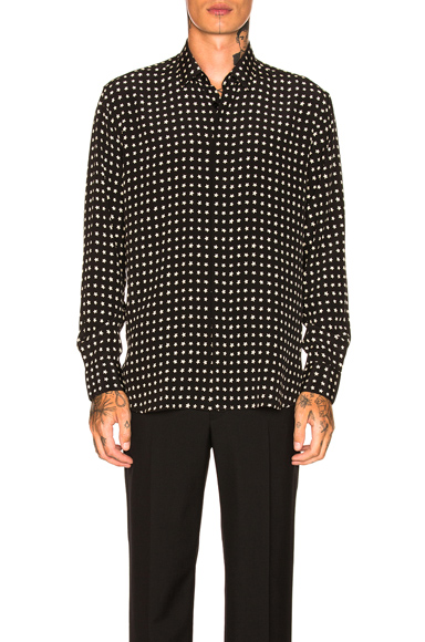 Saint Laurent Star Print Shirt in Abstract,Black,White. - size 41 (also in 38,40,42)