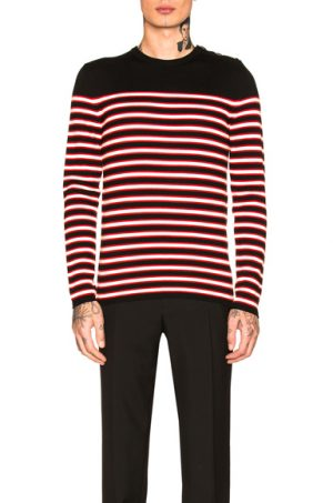 Saint Laurent Striped Cashmere Sweater in Black,Stripes. - size XL (also in )