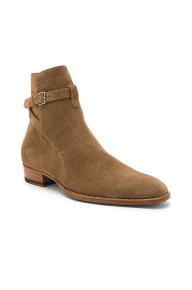 Saint Laurent Suede Wyatt Jodhpur Boots in Brown. - size 42 (also in 40,41,43,44,45)