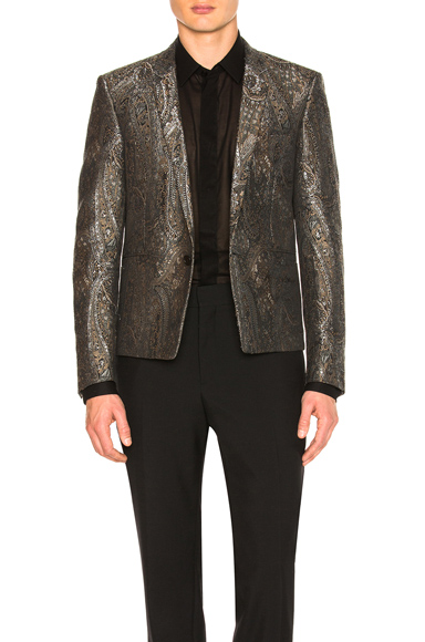 Saint Laurent Tapestry Jacquard Jacket in Black. - size 50 (also in )