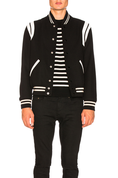 Saint Laurent Teddy Bomber Jacket in Black. - size 52 (also in 46,48,50,54)