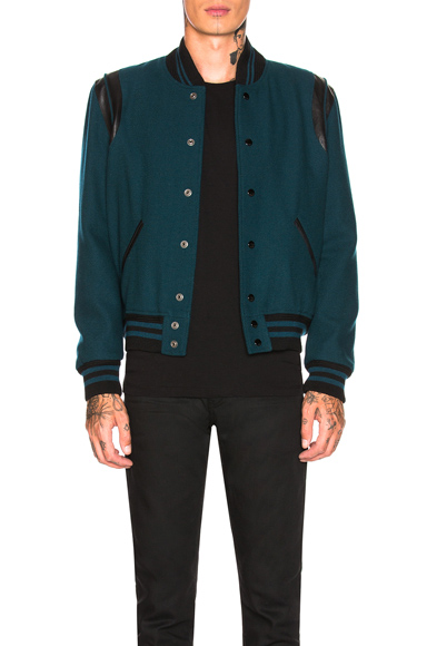52c8f2018 Saint Laurent Teddy Jacket in Black,Blue. - size 50 (also in 46,48,52,54)