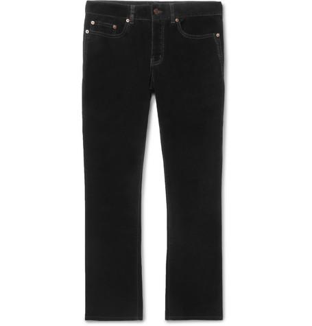 Saint Laurent - Velvet Trousers - Black