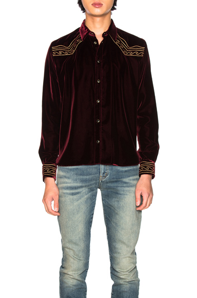 Saint Laurent Western Shirt in Red. - size 40 (also in 39,41,42)