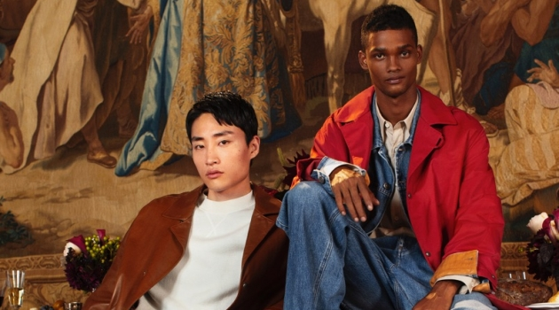 Sofia Malamute photographs Ryu Wankyu and Tevin Steele for Salvatore Ferragamo's holiday 2018 campaign.