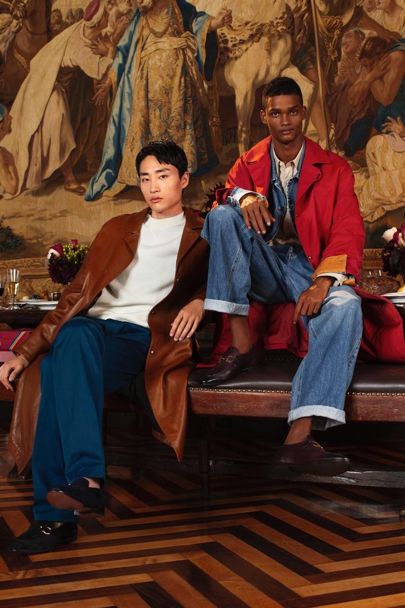 Sofia Malamute photographs Ryu Wankyu and Tevin Steele for Salvatore Ferragamo's holiday 2018 campaign.