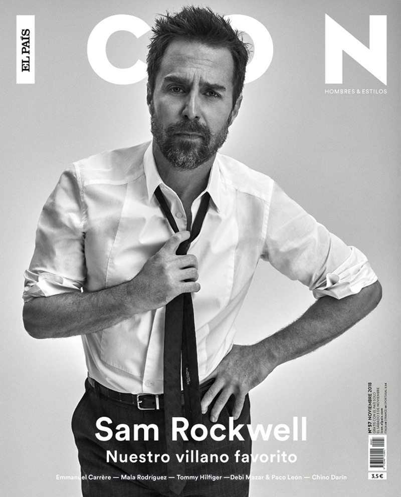 Sam Rockwell covers the November 2018 issue of Icon El País.