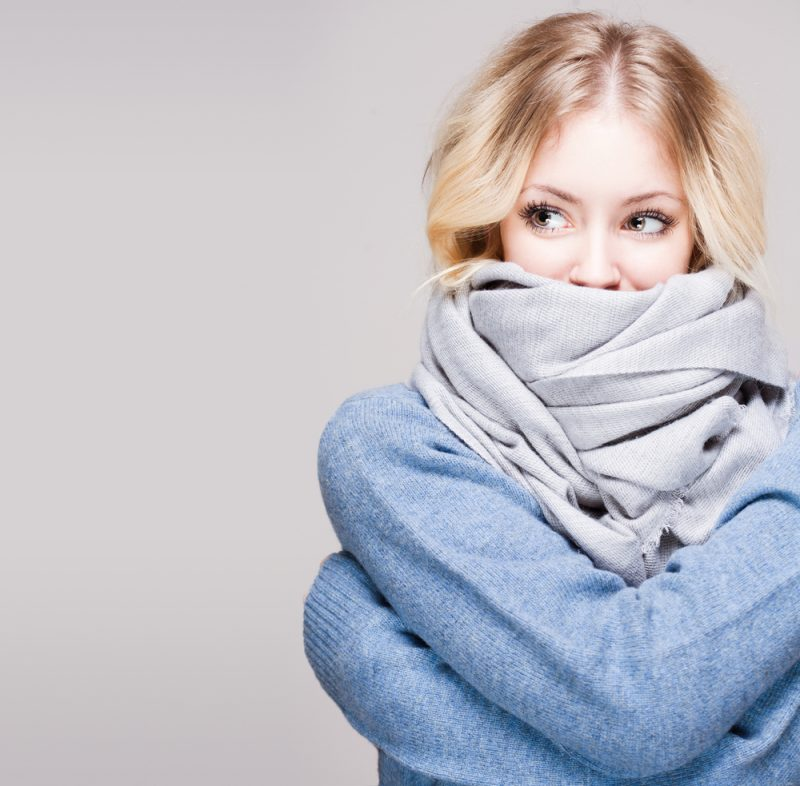 Blonde Woman in Scarf