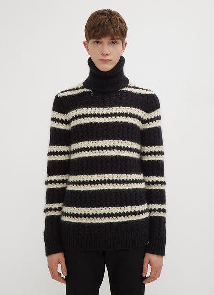 Stripe Turtle Neck Knit Sweater