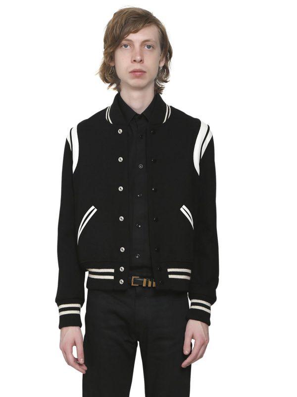 Teddy Wool Jacket W/ Striped Details
