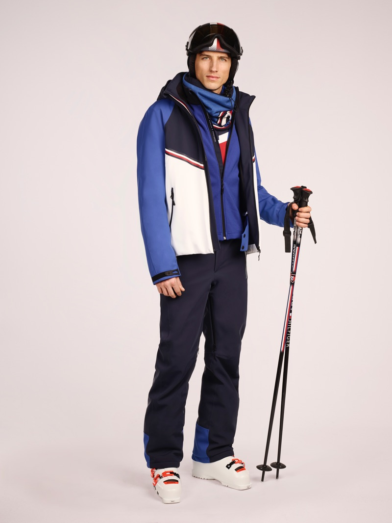 Ryan Kennedy showcases a look from the Tommy x Rossignol collection.