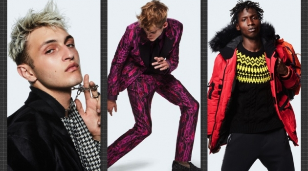 Left to Right: Anwar Hadid, Presley Gerber, and Adonis Bosso for Topman