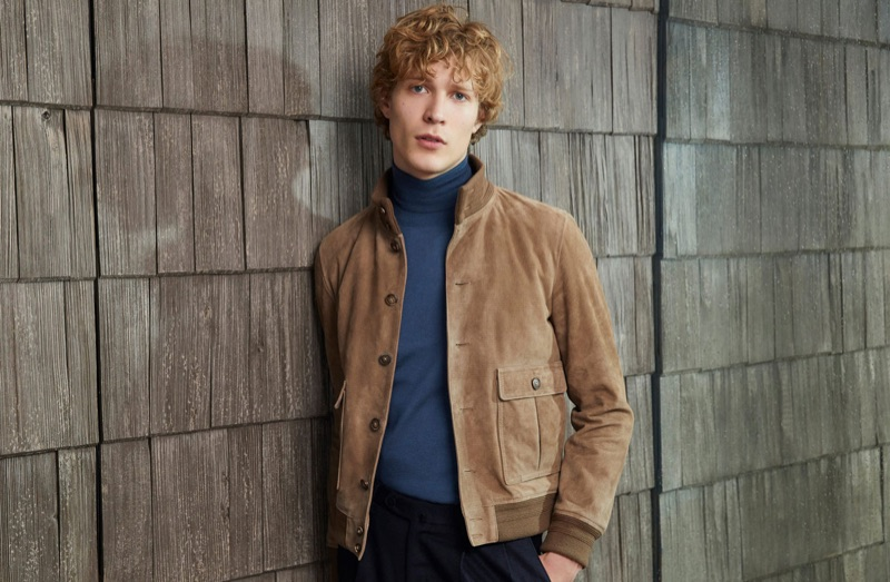 Front and center, Sven de Vries appears in Valstar's fall-winter 2018 campaign.