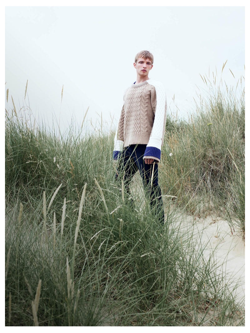 HAIDER ACKERMANN sweater £975, A KIND OF GUISE trousers £165