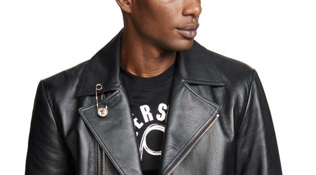 Versus Versace Leather Moto Jacket