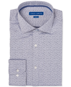 Vince Camuto Men's Slim-Fit Comfort Stretch Dobby Pattern Dress Shirt