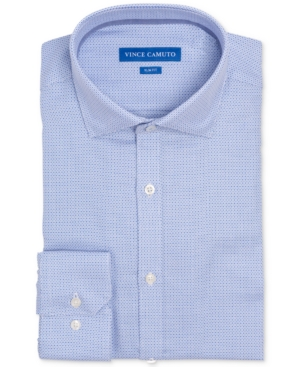 Vince Camuto Men's Slim-Fit Comfort Stretch Mini Check Dress Shirt