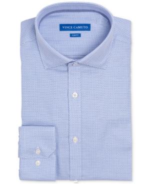 Vince Camuto Men's Slim-Fit Comfort Stretch Mini Check Dress Shirt