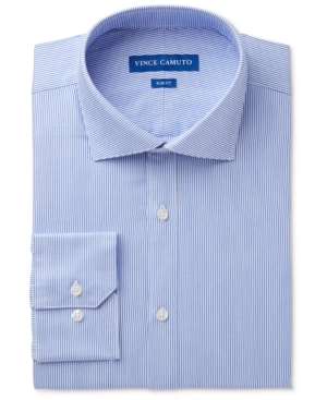 Vince Camuto Men's Slim-Fit Comfort Stretch Pinstripe Twill Dress Shirt
