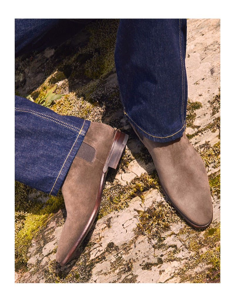 Western style is front and center with Brunello Cucinelli suede boots.