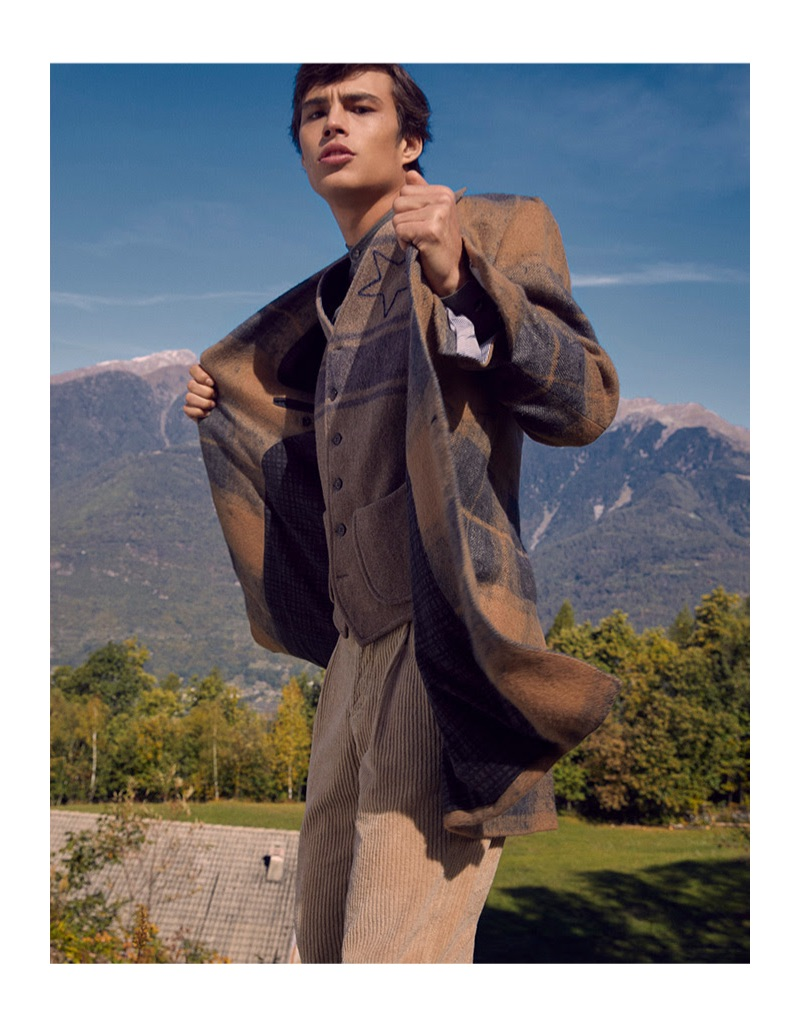 Embracing western style, Louis Baines connects with YOOX for a new fashion edit.