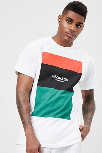 Young & Reckless Graphic Tee by 21 MEN White/multi