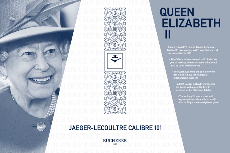 Queen Elizabeth II - Jaegar LeCoultre Calibre 101 Diamond Set Watch
