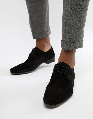 ASOS DESIGN derby shoes in black suede - Black