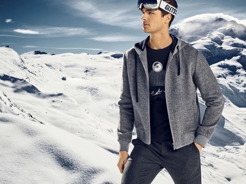 Embracing winter gear, Edward Wilding heads to Zermatt for Autason's fall-winter 2018 campaign.