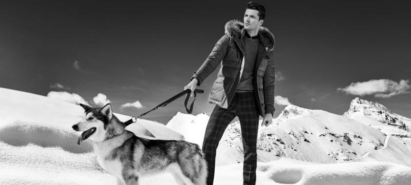 British model Edward Wilding travels to Zermatt for Autason's fall-winter 2018 campaign.