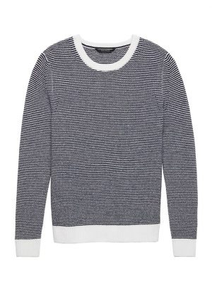 Banana Republic Mens BR x Kevin Love Cashmere Crew-Neck Sweater Navy Blue Size M