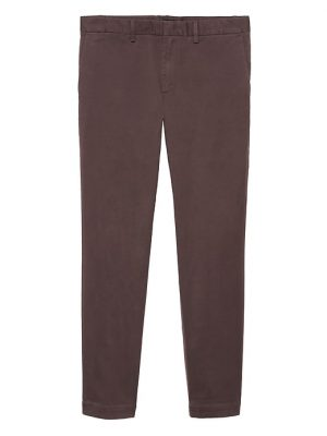 Banana Republic Mens BR x Kevin Love Fulton Skinny Soft Stretch Chino Pant Beet Root Red Size 28W
