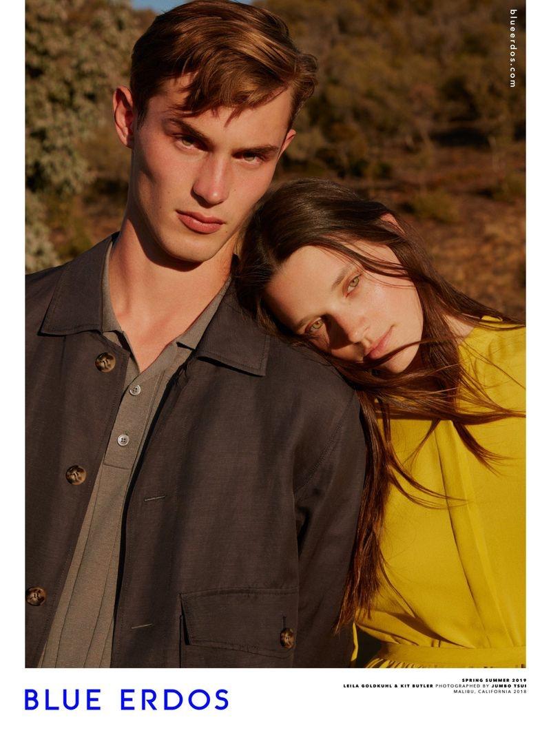 Kit Butler and Leila Goldkuhl star in Blue Erdos' spring-summer 2019 campaign.