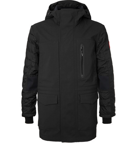 Canada Goose - Selwyn Quilted Shell and Canvas Hooded Down Coat - Men - Black