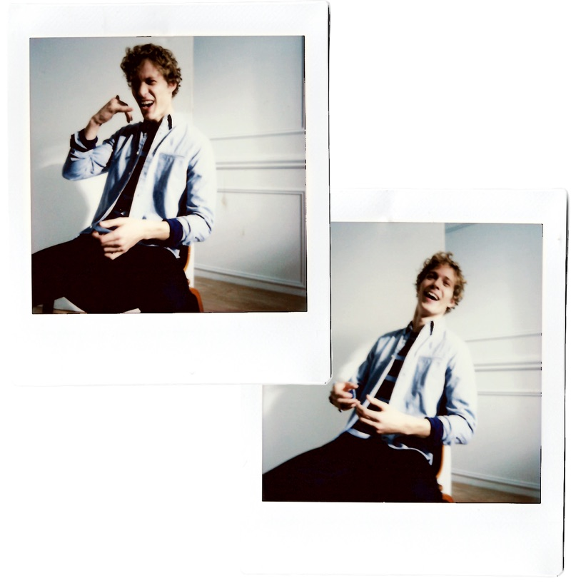 All smiles, Sven de Vries stars in a style outing for Club Monaco.