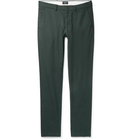 Club Monaco - Connor Slim-Fit Cotton-Blend Twill Chinos - Men - Dark green