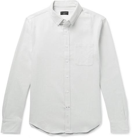Club Monaco - Slim-Fit Button-Down Collar Double-Faced Cotton Shirt - Men - Off-white