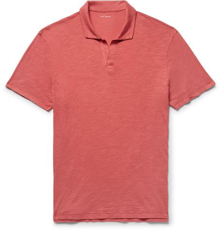 Club Monaco - Slim-Fit Slub Cotton-Jersey Polo Shirt - Red