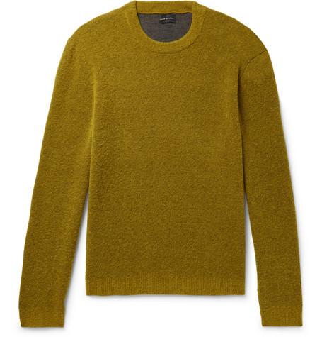 Club Monaco - Stretch Wool-Blend Bouclé Sweater - Men - Chartreuse