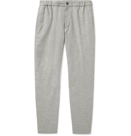 Club Monaco - Tapered Donegal Woven Trousers - Men - Light gray