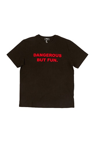 Dangerous But Fun Graphic Tee by 21 MEN Black/red