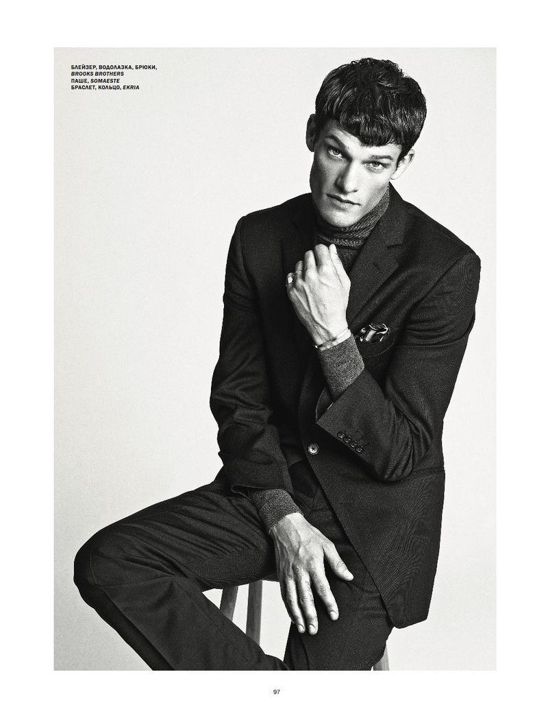 Danny Beauchamp Embraces Sleek Fashions for L'Officiel Hommes Ukraine
