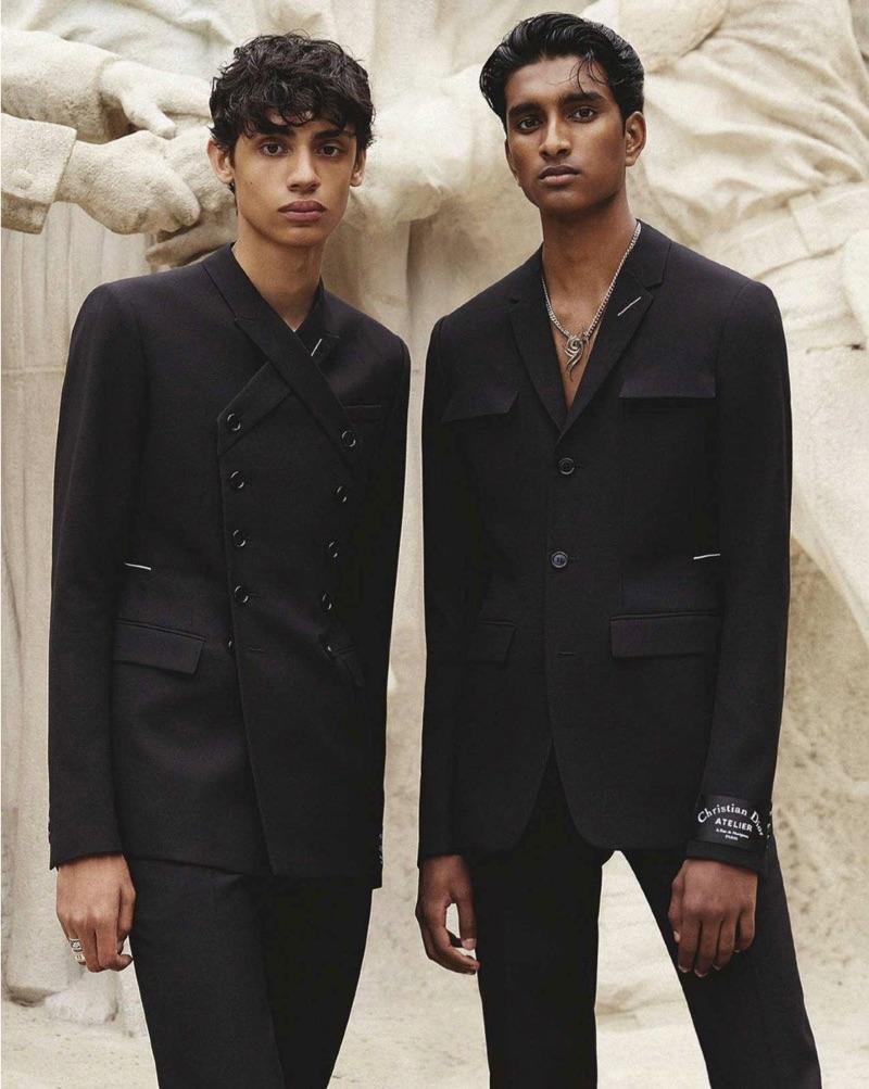 Jeenu Mahadevan & Benjamin Lessore Sport Dior Men for GQ Australia