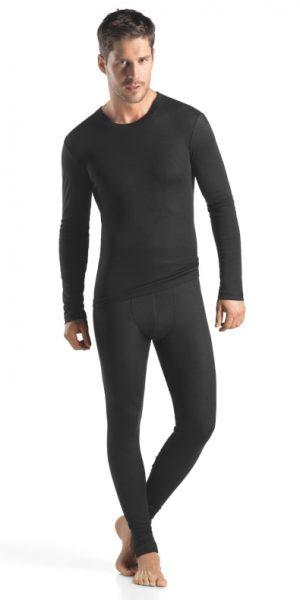 HANRO (73150) Silk/Cashmere Long Sleeve Shirt - Black S