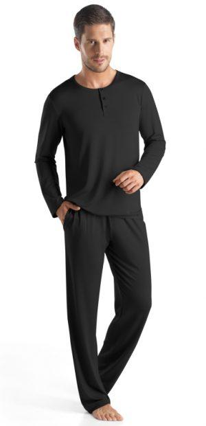HANRO (75316) Harrison L/Slv Henley Shirt - Oat S