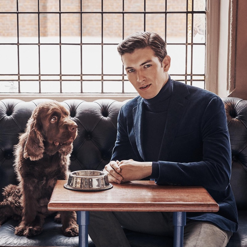 Oli Lacey fronts Hackett London's fall-winter 2018 campaign.