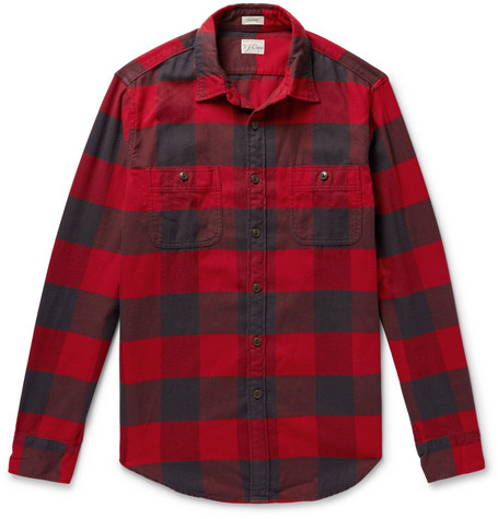J.Crew - Buffalo-Check Cotton-Flannel Shirt - Men - Red
